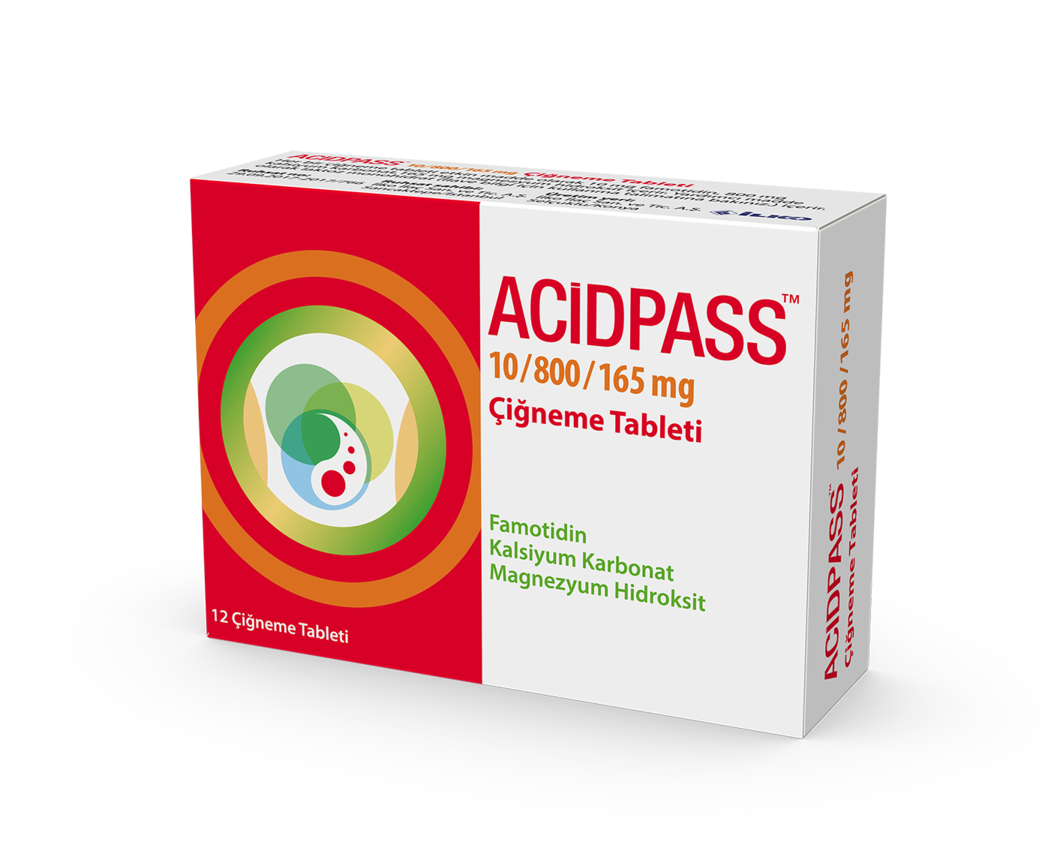 Acidpass 12 Çiğneme Tableti